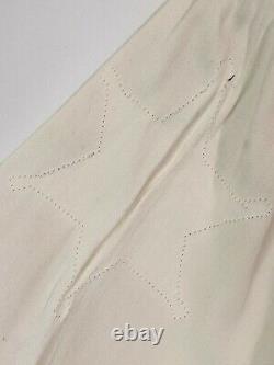 1940's Nathan Turk Vintage Mens Ivory Western Shirt Large. Please Read