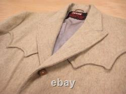 1950s vtg LEVIS WOOL CUSTOM TAILORED WESTERN JACKET 42 L Coat Big E Alpaca Trego