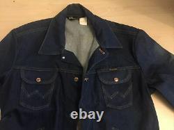 1960`s Wrangler Denim 4 Pocket Jacket 44 Chest New