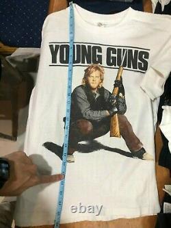1988 Young Guns Vintage Movie Promo Tee Shirt 80s 1980s RARE Western Cowboy