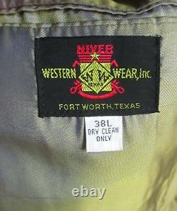 38 L True Vtg 70s mens Vented Back FT WORTH TX HOUNDSTOOTH WESTERN SNAP JACKET