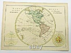 America Western Hemisphere 1780 Rigobert Bonne Large Antique Map 18th Century