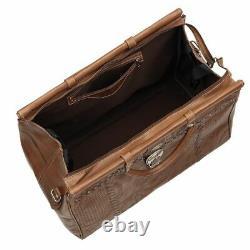 American West Unisex Retro Romance Duffel Travel Bag Antique Brown