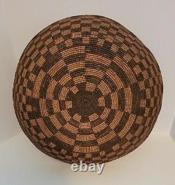 Antique Vintage American Indian Large Basket Pima, Western Apache 16 in. Diam