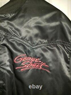 Awesome Vintage George Strait Tourwear Western Type Satin Bomber Jacket Large