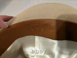 BORSALINO Steel tan Italy Texas style FEDORA Large! 7 measures 22 1/4