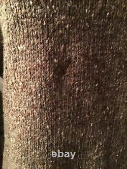 Banana Republic VTG 1970s Wool Knit Suede Elbow Patches Sweater L Rare HTF