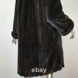 Breathtaking Vintagesz Lgenuine Black Brown Ranch Real Mink Fur Coat Jacket