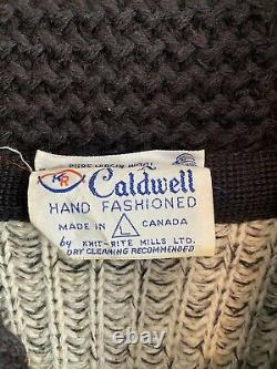 Caldwell Vintage Wool Western Horse Rodeo Sweater Size Large