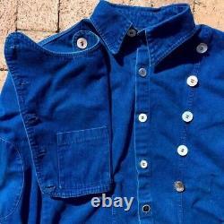 Cavalry Cowboy Indigo Western Shirt Jacket 100yr Old Button Heavyweight 42 Large