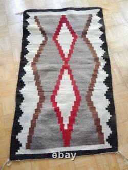Clean + Pristine Vintage Large Navajo Indian Crystal Rug Blanket Weaving