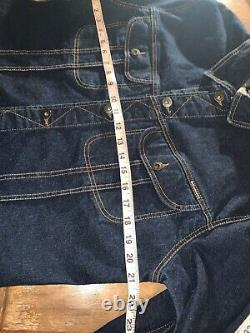 D&G Dolce & Gabbana Blue Denim Western Trucker Jean Jacket, size L EUC