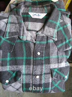 Dakota by Five Brother VTG Genuine 100% Cotton Flannel Western Men's L Shirt