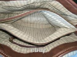 Frye Campus Satchel Rich Walnut Brown Leather Shoulder / Hand Bag Vintage $388
