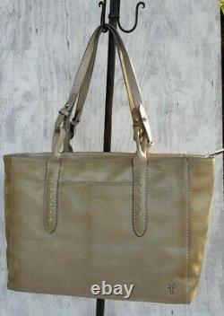 Frye Reed Leather Tote in Cement Beige DB0245 NWT