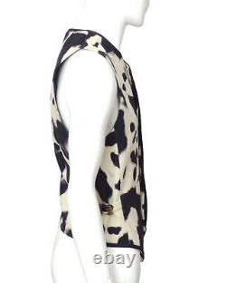 GIANNI VERSACE-1990s Wool Holstein Print Vest, Size-Large