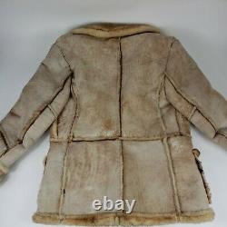 Gino Leathers Vintage Shearling Jacket Mens 46 Rancher Western Jacket Rare