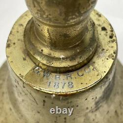 Great Western Railroad Railway 1878 Conductors Large Brass Hand Bell Antique