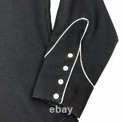 H Bar C California Ranchwear Western Black White Eagle Pearl Snap Shirt 16.5