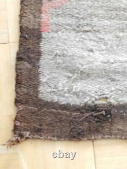 LARGE 66X85 c1910 TRANSITIONAL VINTAGE Crystal area NAVAJO INDIAN RUG