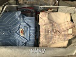 LOT OF 26 WESTERN SHIRTS SOUTHWEST 70s 80s 90s ROCKABILLY PEARL SNAPS COWBOY