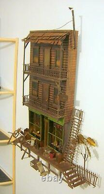 Large C. Jere Wall Sculpture General Store Western Outpost With Rooms For Rent