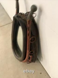 Large Horse Collar Harness Mirror With Wood Metal Hames, Rustic, Western Decor