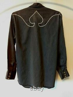 Levi's 1960s Saddleman Tag ACE OF SPADES Western Shirt EUC Size 16/33 Motorhead