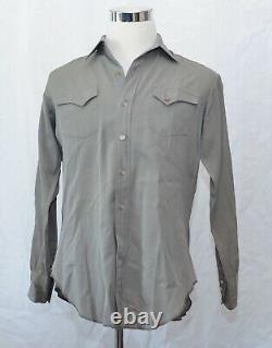 Levi's Big E Wool Shirt Men's L Gray Vintage 1950s Inv#W1657