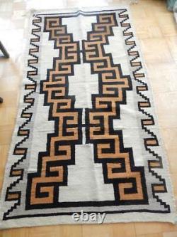 Lrg Antique Vintage Navajo Indian Rug Blanket Runner 42x77 Four Corners Area
