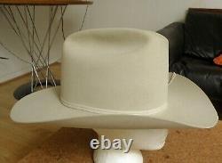MINTY Resistol DIAMOND Horseshoe 15x Tan WESTERN Texas Fedora HAT! Large! 7 3/8