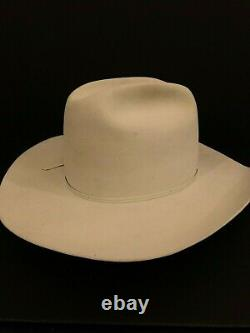 Men's Resistol 4X Cattleman Silverbelly Hat Cowboy Western Long Wide Brim 7 1/2