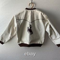 Minty Vintage 60s 70s Canvas Jacket Western Cowboy Rodeo Rockabilly L