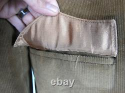 Pioneer Wear Western Jacket Coat Mens Genuine Leather Corduroy 40 Large Vintage