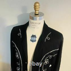RANCHWEAR Jacket Wacko Maria H Bar C Western Black Size L Men NEW