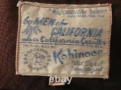 Rare Chemise Kohinoor Gabardine Vintage 1930 USA Parfait Etat T. Large