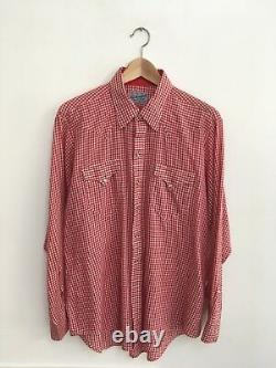 Rockmount Ranch Wear Western Shirt Size Medium/Large Made In USA