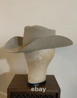 VTG 50s LITWINS 7 1/4 Silverbelly Beaver Felt Cowboy Western Hat Rockabilly LRG