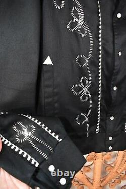 VTG 70s / 80s H Bar C Western Jacket withPearl Snaps Rockabilly Hillbilly L