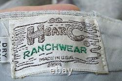 VTG H Bar C Ranchwear Western 3 Piece Suit Men Size 42 Large Made In The USA