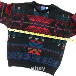 VTG Pendleton Men's Southwest Aztec Navajo Western Wool Sweater Large
