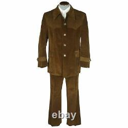 Vintage 70s Corduroy Suit Country & Western Style Size L