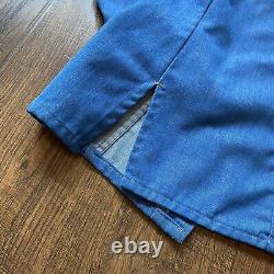 Vintage 70s Genuine Levis Orange Tab Chambray Shirt Sz Large Denim Jacket RARE