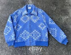 Vintage 90s Pendleton Country Sophisticates Southwestern Blue Wool Jacket Large