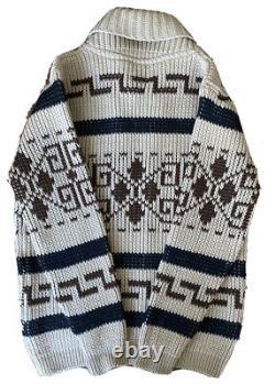 Vintage Big Lebowski Sweater Pendleton 100% Wool Knit The Dude Western Large Men