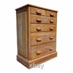 Vintage Brandt Ranch Oak Large Dresser Chest of Drawers Western Rustic Furniture
