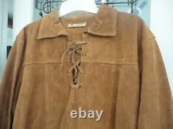 Vintage Buckskin suede Leather Shirt Men's L Great Condition Tagged Berman