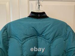 Vintage Comfy 70s Down Puffer Western Ranch Jacket Mens Medium Large Women Large