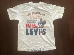 Vintage Deadstock Levi Strauss & Co T Shirt L 90s USA Cowboy Western Levi's Nos