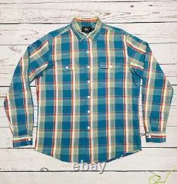 Vintage Double RL RRL Ralph Lauren Heavyweight Plaid Flannel Shirt Men's L